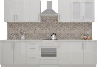 Готовая кухня ВерсоМебель ВерсоЛайн 7-2.4 (белый 001) -