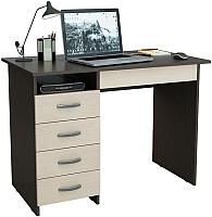 Письменный стол MFMaster Милан-1 (0120) / МСТ-СДМ-01-ВД-03 (венге/дуб молочный) -