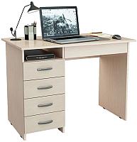 Письменный стол MFMaster Милан-1 (0120) / МСТ-СДМ-01-ДМ-03 (дуб молочный) -
