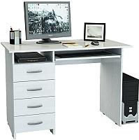 Компьютерный стол MFMaster Милан-3 (0120) / МСТ-СДМ-03-БТ-03 (белый) -