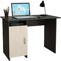 Письменный стол MFMaster Милан-8 (0120) / МСТ-СДМ-08-ВД-03 (венге/дуб молочный) -