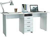 Письменный стол MFMaster Тандем-2 (0120) / МСТ-СДТ-02-БТ-03 (белый) -