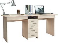 Письменный стол MFMaster Тандем-2Я (0120) / МСТ-СДТ-2Я-ДМ-03 (дуб молочный) -