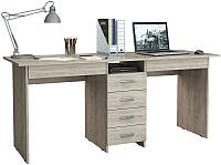 Письменный стол MFMaster Тандем-2Я (0120) / МСТ-СДТ-2Я-ДС-03 (дуб сонома) -