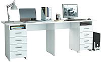 Письменный стол MFMaster Тандем-3 (0120) / МСТ-СДТ-03-БТ-03 (белый) -