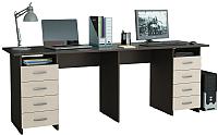 Письменный стол MFMaster Тандем-3 (0120) / МСТ-СДТ-03-ВД-03 (венге/дуб молочный) -