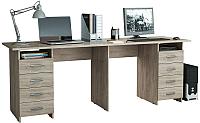 Письменный стол MFMaster Тандем-3 (0120) / МСТ-СДТ-03-ДС-03 (дуб сонома) -