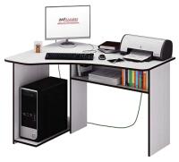 Компьютерный стол MFMaster Триан-1 левый / МСТ-УСТ-01-БТ-16 (белый) -