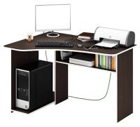 Компьютерный стол MFMaster Триан-1 левый / МСТ-УСТ-01-ВМ-16 (венге) -