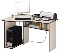 Компьютерный стол MFMaster Триан-1 левый / МСТ-УСТ-01-ДМ-16 (дуб молочный) -