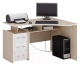 Письменный стол MFMaster Триан-5 правый / МСТ-УСТ-05-ДС-БТ-16-ПР (дуб сонома/белый) -