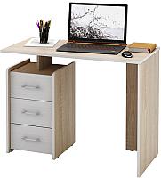 Письменный стол MFMaster Слим-1 / МСТ-ССЛ-01-ДС-БТ-16 (дуб сонома/белый) -