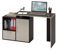 Письменный стол MFMaster Слим-3 / МСТ-ССЛ-03-ВМ-ДМ-16 (венге/дуб молочный) -