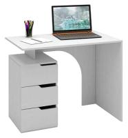Письменный стол MFMaster Нейт-1 / МСТ-СТН-01-БТ-16 (белый) -