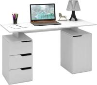 Письменный стол MFMaster Нейт-3 / МСТ-СТН-03-БТ-16 (белый) -