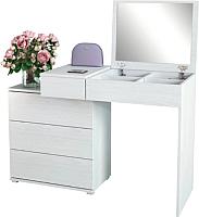 Туалетный столик с зеркалом MFMaster Нуар-6 / МСТ-ТСН-06-БТ-16 (белый) -