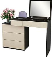 Туалетный столик с зеркалом MFMaster Нуар-6 / МСТ-ТСН-06-ВД-16 (венге/дуб молочный) -