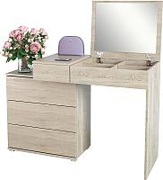 Туалетный столик с зеркалом MFMaster Нуар-6 / МСТ-ТСН-06-ДМ-16 (дуб молочный) -