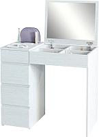 Туалетный столик с зеркалом MFMaster Триверо-1 / МСТ-ТСТ-01-БТ-16 (белый) -