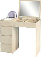 Туалетный столик с зеркалом MFMaster Триверо-1 / МСТ-ТСТ-01-ДМ-16 (дуб молочный) -