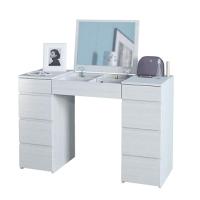 Туалетный столик с зеркалом MFMaster Триверо-2 / МСТ-ТСТ-02-БТ-16 (белый) -