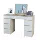 Туалетный столик с зеркалом MFMaster Триверо-2 / МСТ-ТСТ-02-СБ-16 (дуб сонома/белый) -