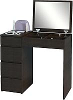 Туалетный столик с зеркалом MFMaster Триверо-1 / МСТ-ТСТ-01-ВМ-16 (венге) -