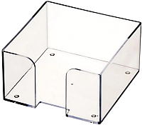 Бокс для заметок Стамм Для бумажного блока / ПЛ61 (прозрачный) -