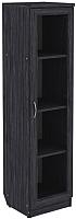 Шкаф-пенал с витриной Уют Сервис Гарун 212 (графит) -