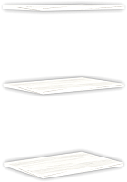 Комплект полок для шкафа Уют Сервис Гарун П107 (3шт, арктик) -