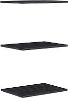Комплект полок для шкафа Уют Сервис Гарун П107 (3шт, графит) -
