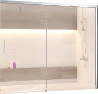 Стеклянная шторка для ванны RGW SC-45 / 34114517-11 (хром/прозрачное стекло) -