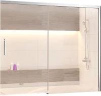 Стеклянная шторка для ванны RGW SC-45 / 34114518-11 (хром/прозрачное стекло) -