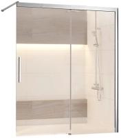 Стеклянная шторка для ванны RGW SC-43 / 34114312-11 (хром/прозрачное стекло) -