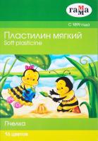 Пластилин ГАММА Пчелка / 280030Н (16цв) -