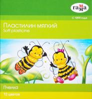 Пластилин ГАММА Пчелка / 280032Н (12цв) -