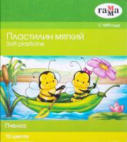 Пластилин ГАММА Пчелка / 280031Н (10цв) -