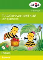 Пластилин ГАММА Пчелка / 280038Н (8цв) -