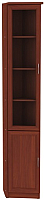Шкаф-пенал с витриной Уют Сервис Гарун 209 (итальянский орех) -