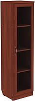 Шкаф-пенал с витриной Уют Сервис Гарун 212 (итальянский орех) -