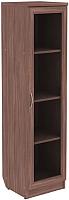 Шкаф-пенал с витриной Уют Сервис Гарун 212 (ясень шимо) -
