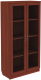 Шкаф с витриной Уют Сервис Гарун 214 (итальянский орех) -