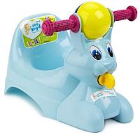 Детский горшок Little Angel Зайчик / 2710 (голубой) -