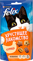 Корм для кошек Felix Хрустящее лакомство с курицей (60г) -