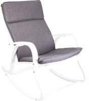 Кресло-качалка Седия Greta (ткань серый/белый) -