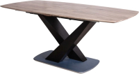 Обеденный стол Седия Adagio 140-180x90x75 (дуб трюфельный/черный) -