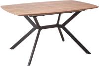 Обеденный стол Седия Allegro 140-180x90x75 (дуб сонома/черный) -