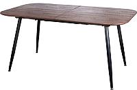 Обеденный стол Седия Dolore 160-220x90x75 (орех/черный) -