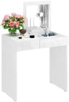 Туалетный столик с зеркалом MFMaster Риано-01 / МСТ-ТСР-01-ББ-ГЛ (белый) -