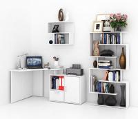 Комплект мебели для кабинета MFMaster Корнет УШ-2-01 / Корнет-2-01-БТ-16 (белый) -